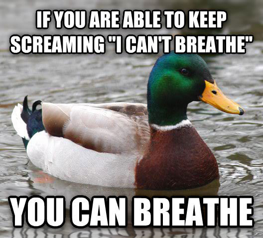 If you're able to keep screaming...