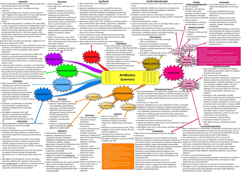 Antibiotics Summary