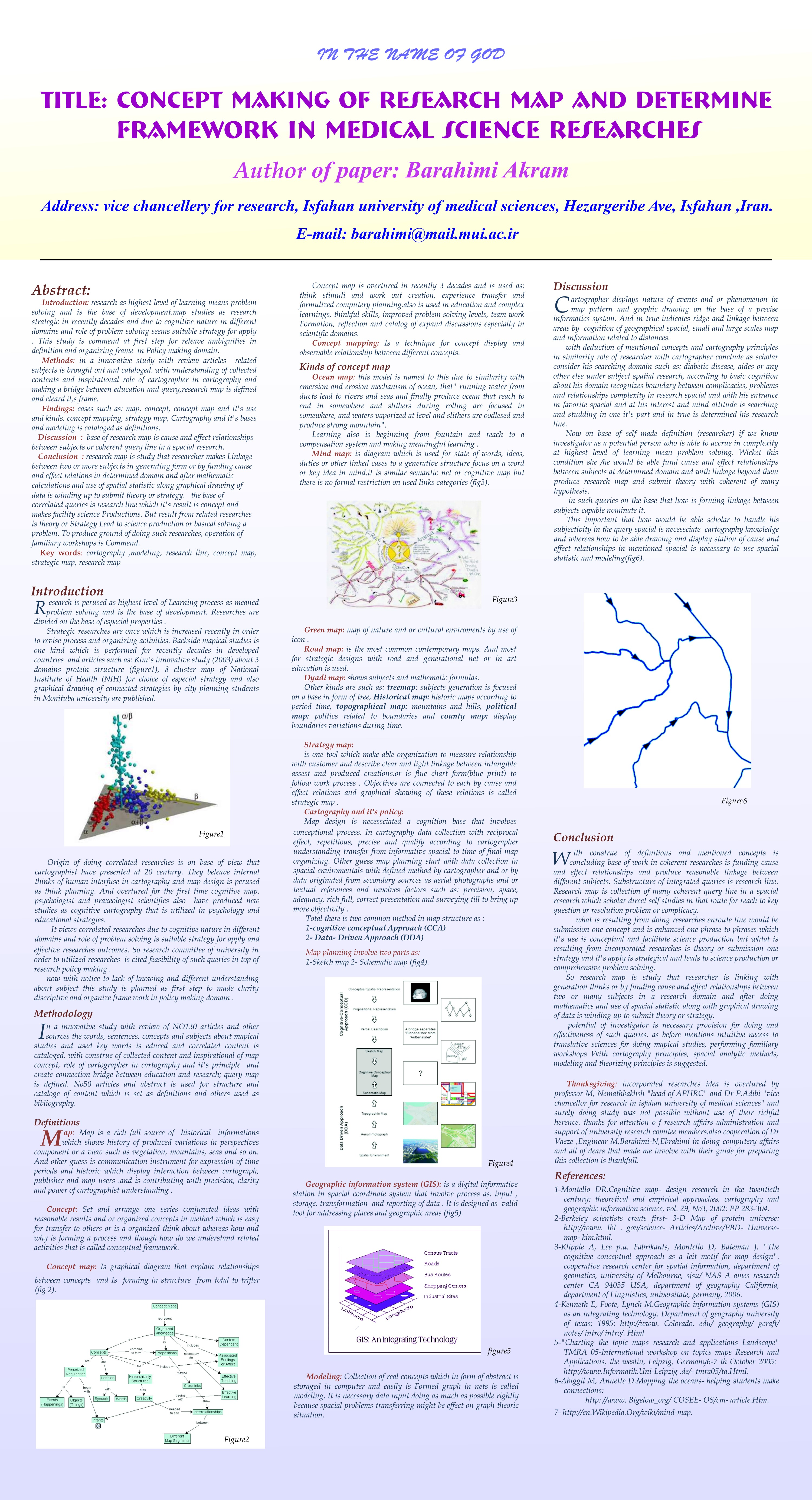 concept making of research map and determine framework in medical science researches